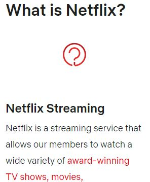 NetflixのサポートFAQ対応