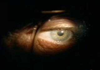 謎の男の目